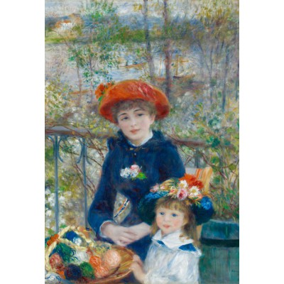 grafika-Puzzle - 12 pieces - XXL Pieces - Auguste Renoir: The Two Sisters, On the Terrace, 1881