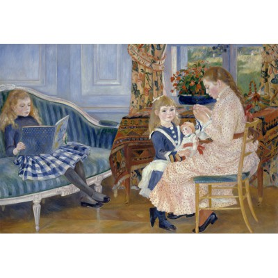 grafika-Puzzle - 12 pieces - XXL Pieces - Auguste Renoir : Children's Afternoon at Wargemont, 1884