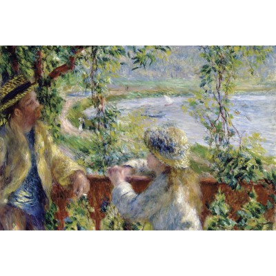 grafika-Puzzle - 100 pieces - Renoir Auguste: Near the Lake, 1879