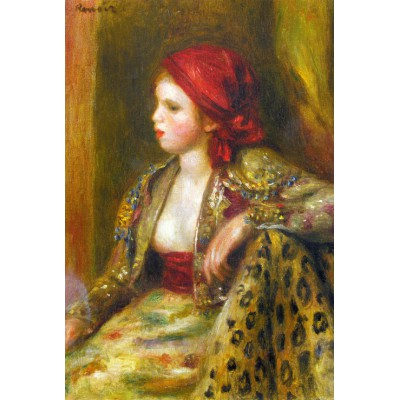 grafika-Puzzle - 100 pieces - Renoir Auguste: Odalisque, 1895