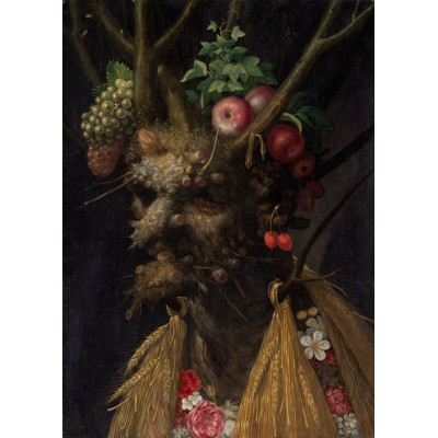 grafika-Puzzle - 24 pieces - Magnetic Pieces - Arcimboldo Giuseppe: Four Seasons in One Head, 1590