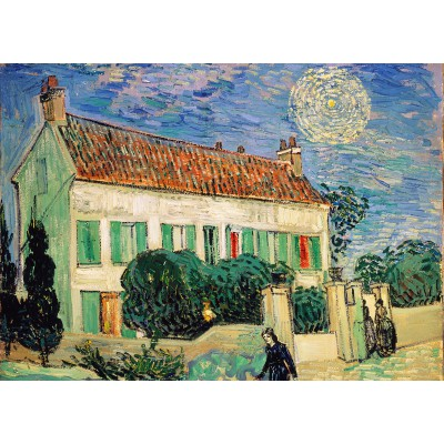 grafika-Puzzle - 24 pieces - Magnetic Pieces - Van Gogh Vincent: La Maison Blanche, la Nuit, 1890