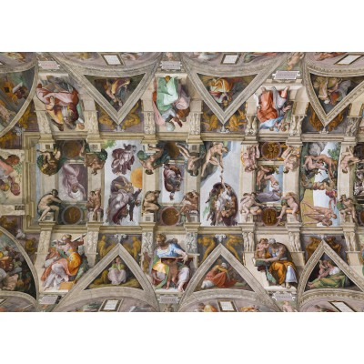 grafika-Puzzle - 24 pieces - Magnetic Pieces - Michelangelo: Sistine Chapel