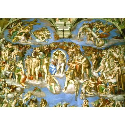 grafika-Puzzle - 24 pieces - Magnetic Pieces - Michelangelo : Judgement Day