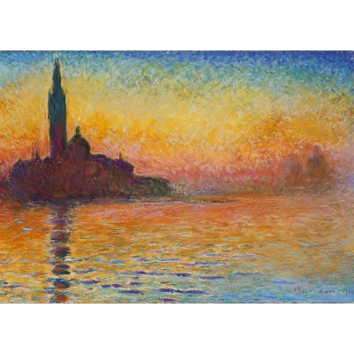 grafika-Puzzle - 24 pieces - Magnetic Pieces - Claude Monet: Saint-Georges-Majeur au Crépuscule, 1908