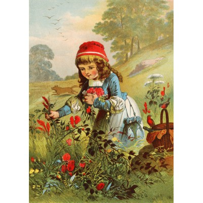 grafika-Puzzle - 24 pieces - Magnetic Pieces - Little Red Riding Hood, illustration by Carl Offterdinger
