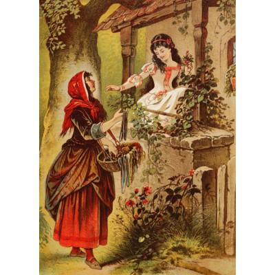 grafika-Puzzle - 24 pieces - Magnetic Pieces - Snow White, illustration by Carl Offterdinger