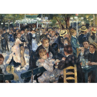 grafika-Puzzle - 24 pieces - Magnetic Pieces - Auguste Renoir: Bal du Moulin de la Galette, 1876