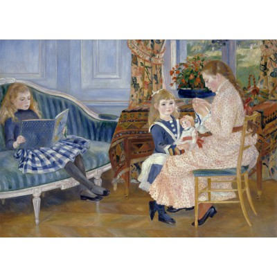 grafika-Puzzle - 24 pieces - Magnetic Pieces - Auguste Renoir : Children's Afternoon at Wargemont, 1884