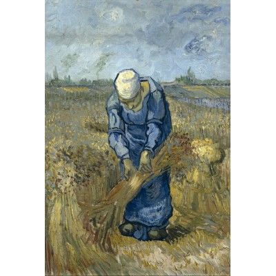 grafika-Puzzle - 100 pieces - Vincent van Gogh - Peasant woman binding sheaves (after Millet)