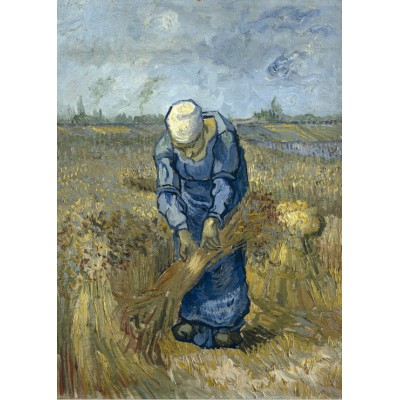grafika-Puzzle - 24 pieces - Vincent van Gogh - Peasant woman binding sheaves (after Millet)