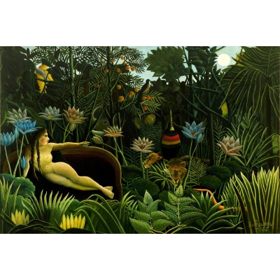 grafika-Puzzle - 100 pieces - Henri Rousseau: The Dream, 1910