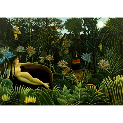 grafika-Puzzle - 24 pieces - Magnetic Pieces - Henri Rousseau: The Dream, 1910