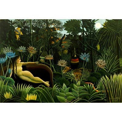 grafika-Puzzle - 12 pieces - XXL Pieces - Henri Rousseau: The Dream, 1910