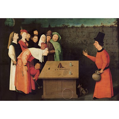 grafika-Puzzle - 100 pieces - Bosch: The Conjurer, 1502