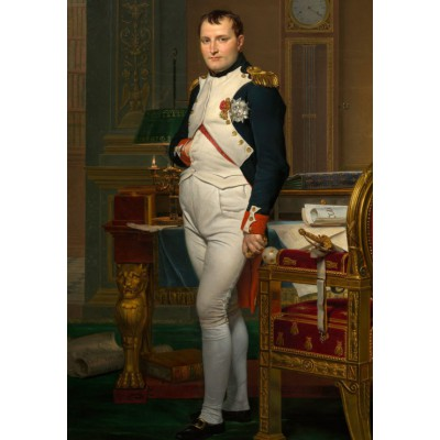 grafika-Puzzle - 100 pieces - Jacques-Louis David: The Emperor Napoleon in his study at the Tuileries, 1812
