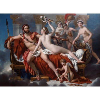 grafika-Puzzle - 300 pieces - Jacques-Louis David: Mars Being Disarmed by Venus, 1824