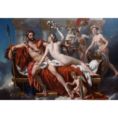 grafika-Puzzle - 100 pieces - Jacques-Louis David: Mars Being Disarmed by Venus, 1824