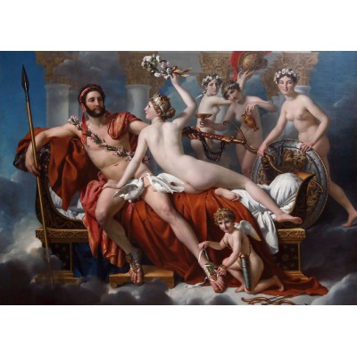 grafika-Puzzle - 24 pieces - Magnetic Pieces - Jacques-Louis David: Mars Being Disarmed by Venus, 1824