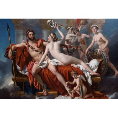 grafika-Puzzle - 12 pieces - XXL Pieces - Jacques-Louis David: Mars Being Disarmed by Venus, 1824