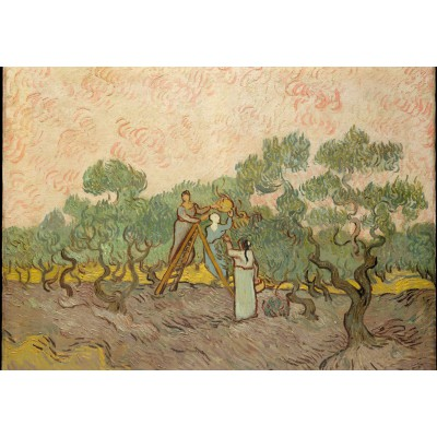 grafika-Puzzle - 100 pieces - Van Gogh: Women Picking Olives,1889