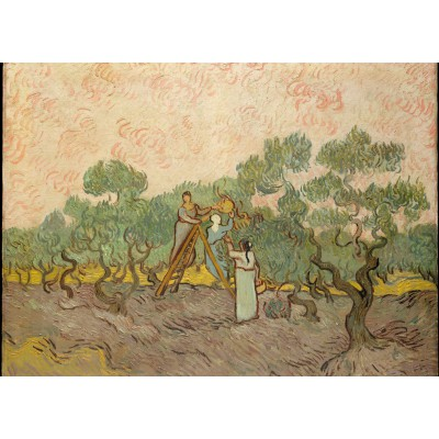 grafika-Puzzle - 24 pieces - Van Gogh: Women Picking Olives,1889