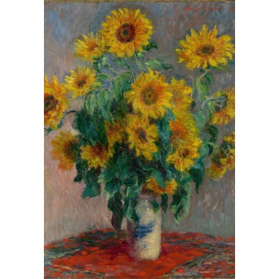 grafika-Puzzle - 12 pieces - XXL Pieces - Claude Monet: Bouquet of Sunflowers, 1881