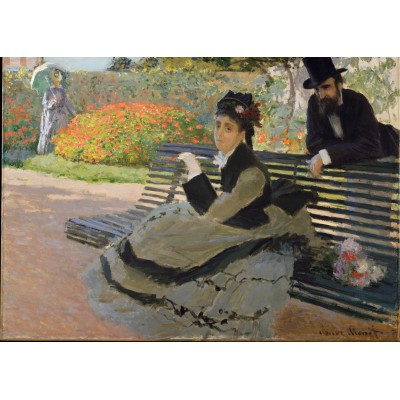 grafika-Puzzle - 24 pieces - Claude Monet: Camille Monet, 1873