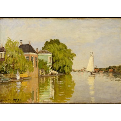 grafika-Puzzle - 24 pieces - Magnetic Pieces - Claude Monet: Houses on the Achterzaan, 1871