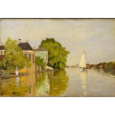 grafika-Puzzle - 12 pieces - XXL Pieces - Claude Monet: Houses on the Achterzaan, 1871