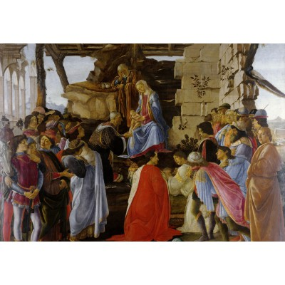 grafika-Puzzle - 100 pieces - Sandro Botticelli: Adoration of the Magi (Zanobi Altar), 1475