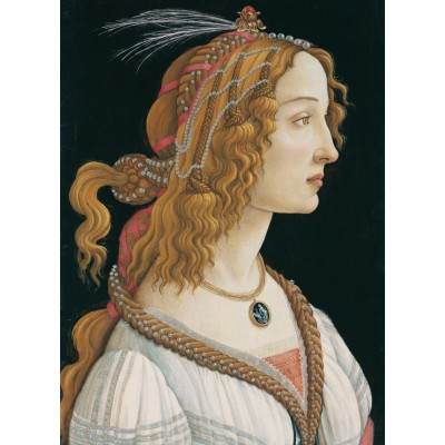 grafika-Puzzle - 300 pieces - Sandro Botticelli: Portrait of a young Woman, 1494