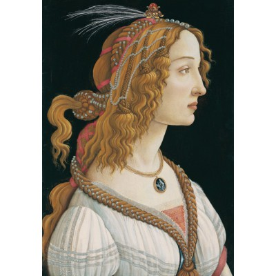 grafika-Puzzle - 100 pieces - Sandro Botticelli: Portrait of a young Woman, 1494