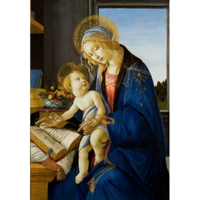 grafika-Puzzle - 100 pieces - Sandro Botticelli: The Madonna of the Book, 1480