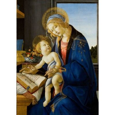 grafika-Puzzle - 24 pieces - Magnetic Pieces - Sandro Botticelli: The Madonna of the Book, 1480