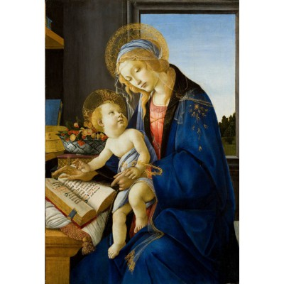 grafika-Puzzle - 12 pieces - XXL Pieces - Sandro Botticelli: The Madonna of the Book, 1480