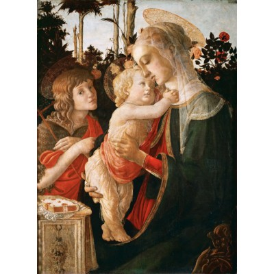 grafika-Puzzle - 300 pieces - Sandro Botticelli: Virgin and Child with Young St John the Baptist, 1470-1475