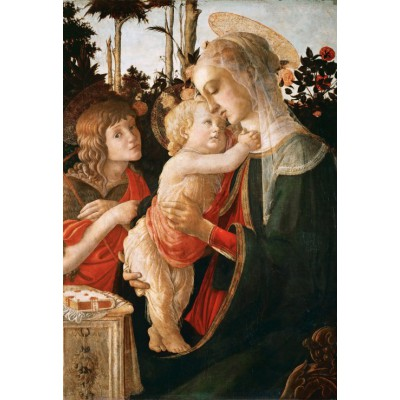 grafika-Puzzle - 12 pieces - XXL Pieces - Sandro Botticelli: Virgin and Child with Young St John the Baptist, 1470-1475