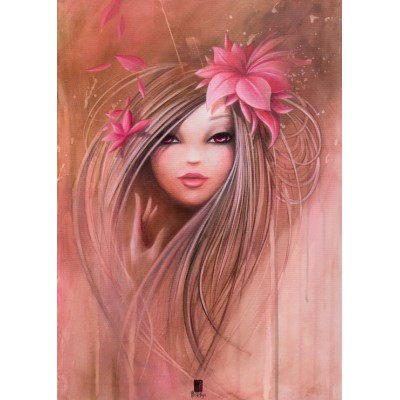 grafika-Puzzle - 24 pieces - Magnetic Pieces - Misstigri: Sweet Pinky Girl