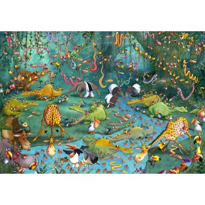 grafika-Puzzle - 100 pieces - François Ruyer: Jungle