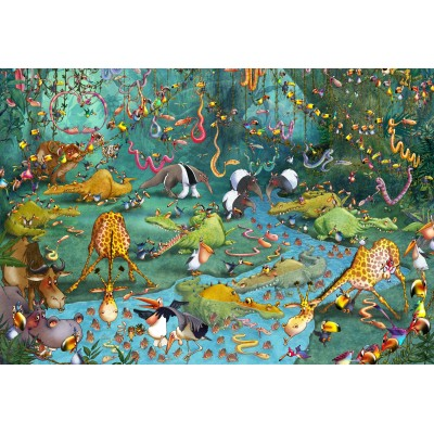 Grafika - 12 pièces - Pièces XXL - François Ruyer : La Jungle
