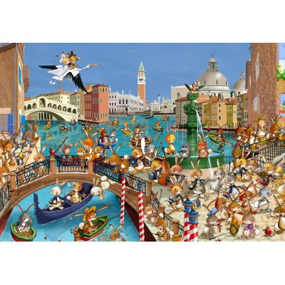 grafika-Puzzle - 100 pieces - François Ruyer: Venice