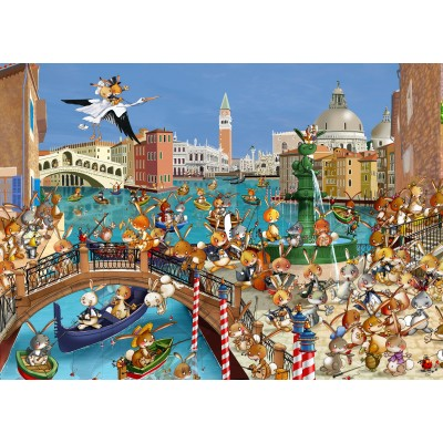 grafika-Puzzle - 24 pieces - Magnetic Pieces - François Ruyer: Venice