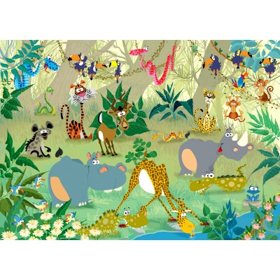 grafika-Puzzle - 24 pieces - Magnetic Pieces - François Ruyer: Jungle