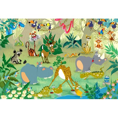grafika-Puzzle - 12 pieces - XXL Pieces - François Ruyer: Jungle