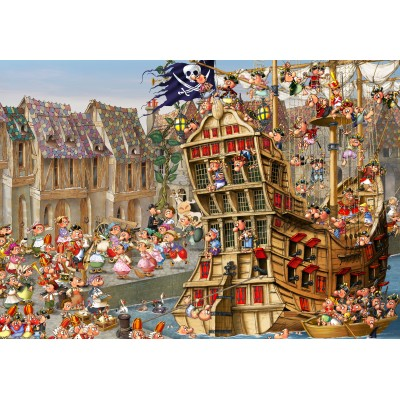 grafika-Puzzle - 100 pieces - François Ruyer: Pirates