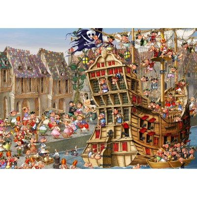 grafika-Puzzle - 24 pieces - Magnetic Pieces - François Ruyer: Pirates