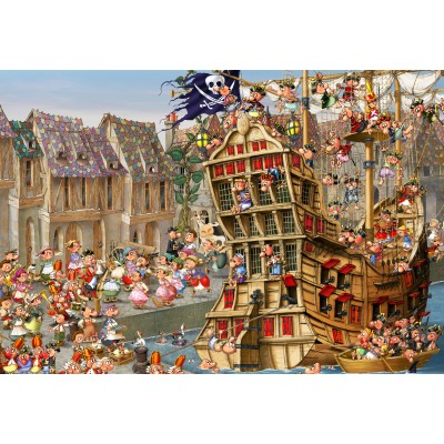 grafika-Puzzle - 12 pieces - XXL Pieces - François Ruyer: Pirates