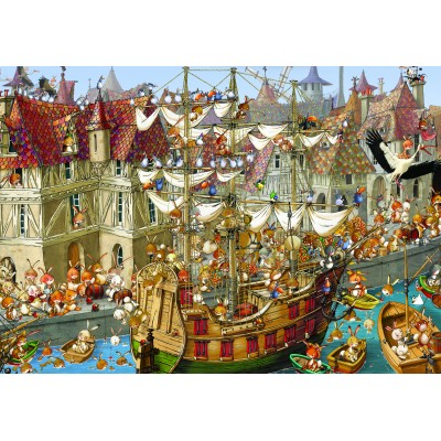 grafika-Puzzle - 100 pieces - François Ruyer: Rabbits!