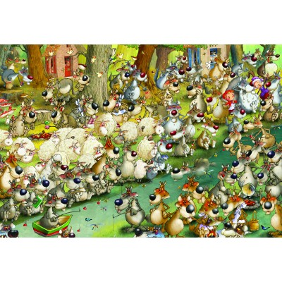 grafika-Puzzle - 12 pieces - XXL Pieces - François Ruyer: Wolves!